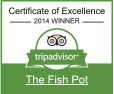 TripAdvisor Certificate Of Excellence - The Fish Pot
