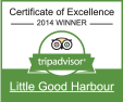 TripAdvisor Certificate Of Excellence - Little Good Harbour